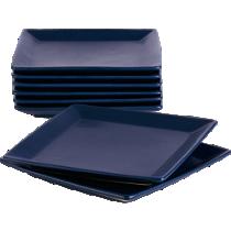 mood blue salad-dessert plates set of eight