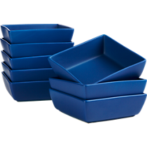 mood bright blue soup bowls set of eight