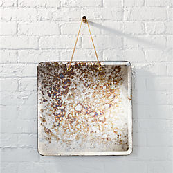 motley antiqued mirror with chain
