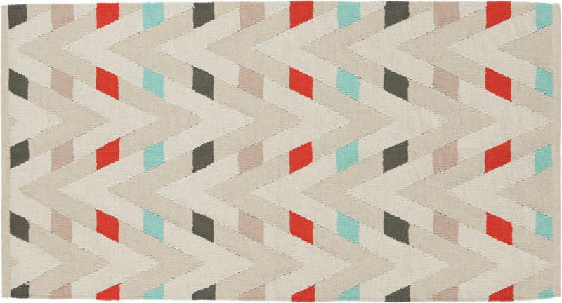 muku cotton dhurrie rug 3'x5'