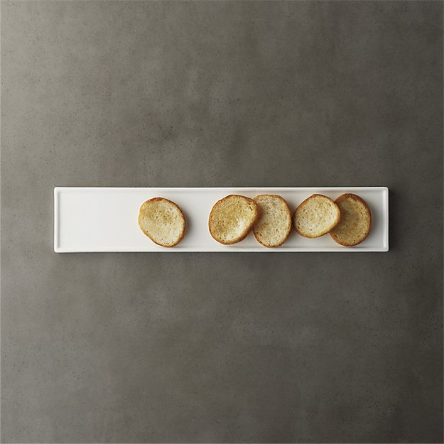 narrow rectangular platter