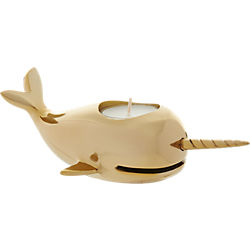 narwhal tea light candle holder