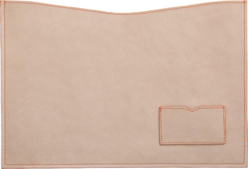 natural leather mac book case