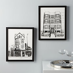neighborhood prints set of two