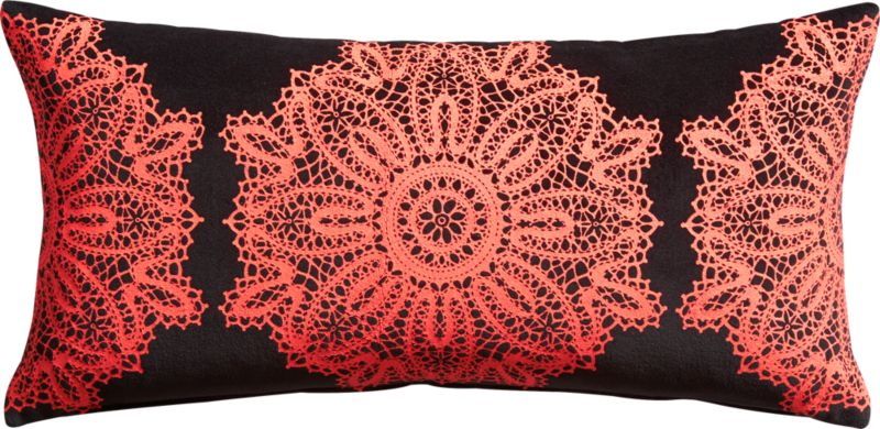 """neo victorian 23""""x11"""" pillow with down-alternative insert"""