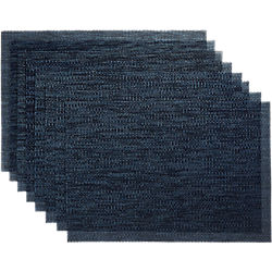 net navy blue placemats set of eight