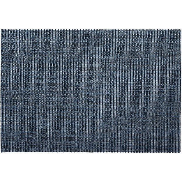 net navy blue placemat