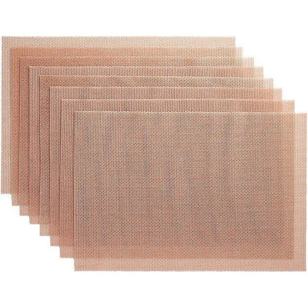 set of 8 net pink placemats