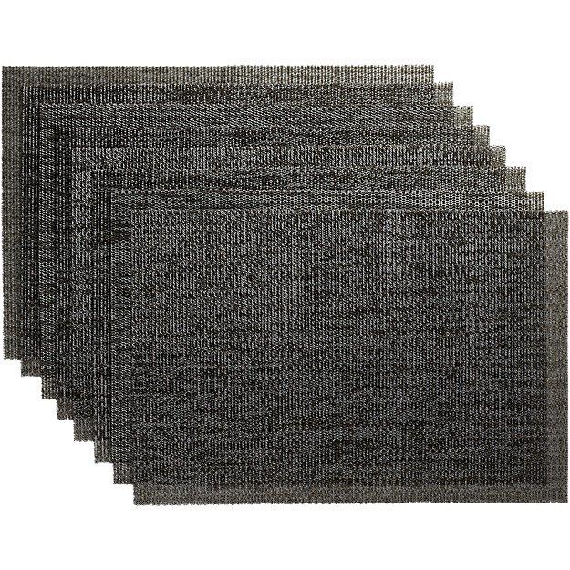 set of 8 net shale placemats