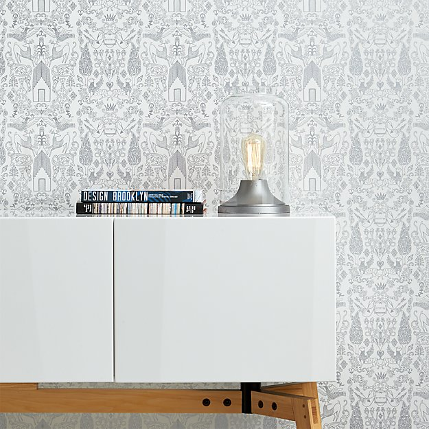 Nethercote Silver Traditional Paste Wallpaper Cb2