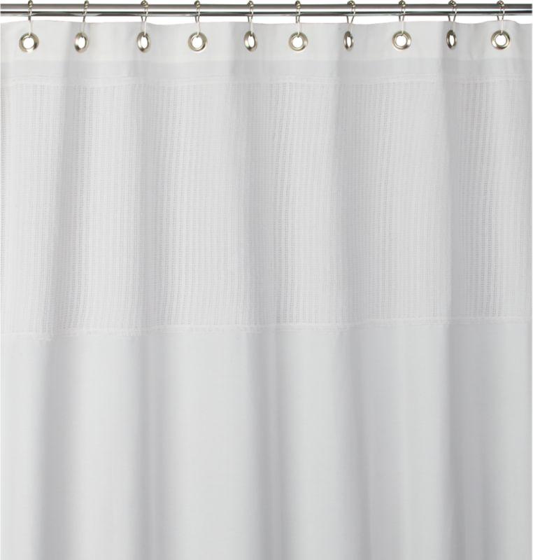 netty white shower curtain