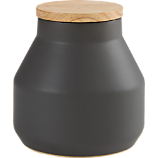neutral large dark grey canister