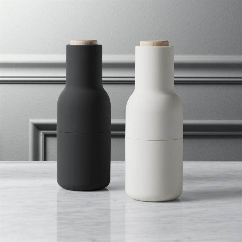 2-piece neutral salt and pepper grinder set
