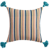"nimah stripes 18"" pillow with down-alternative insert"