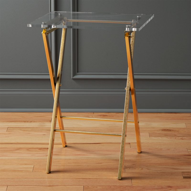 Novo Acrylic Folding Table Cb2