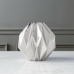 obon silver vase
