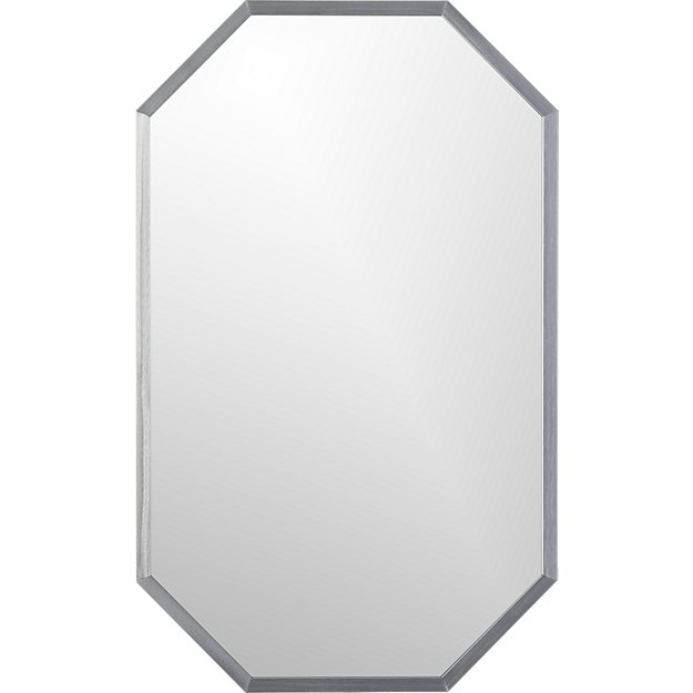 "octagon 18.25""x29.5"" wall mirror"