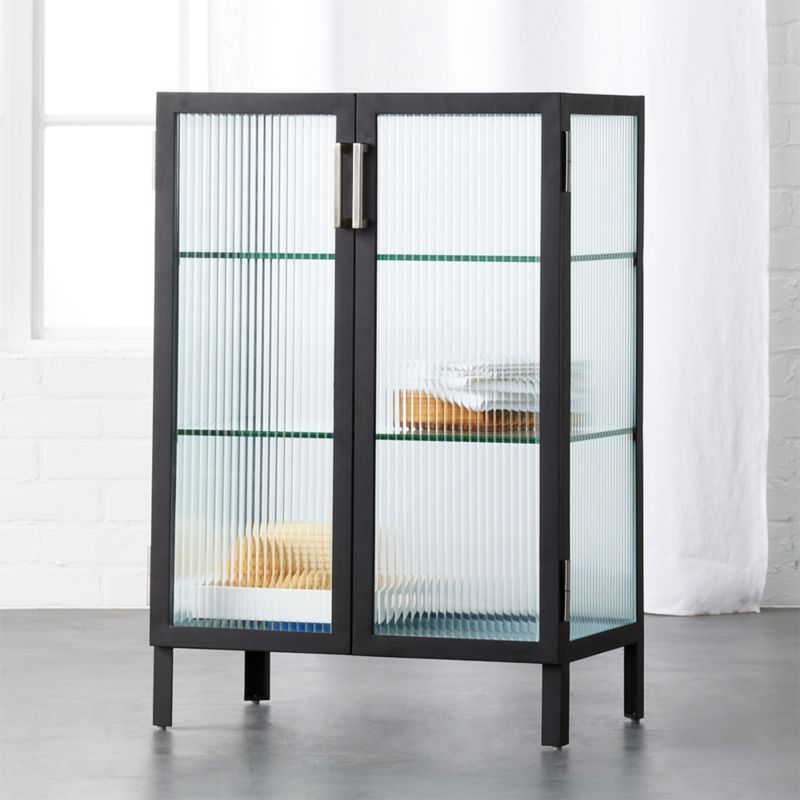 Ordinaire Odean Small Glass Cabin... By CB2 $499 CB2