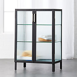 odean small glass cabinet
