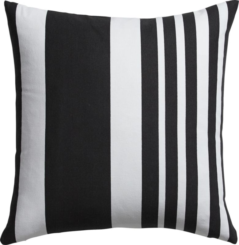 "offbeat stripe 18"" pillow with down-alternative insert"