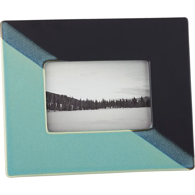 "ojai dipped ceramic 4""x6"" picture frame"
