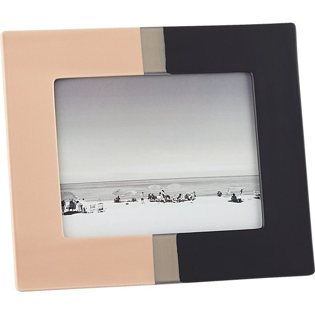 "ojai dipped ceramic 8""x10"" picture frame"