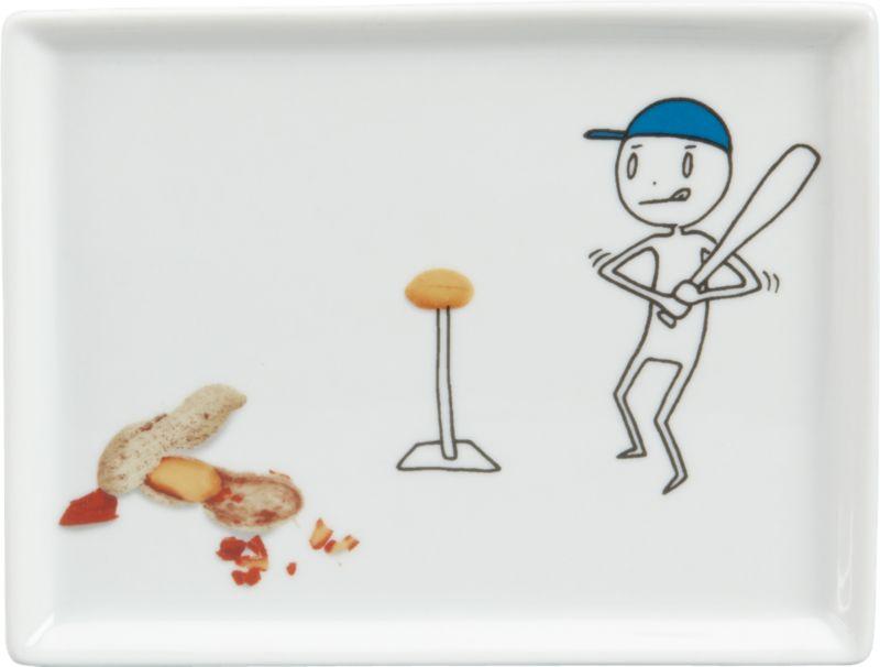 oliver baseball appetizer plate