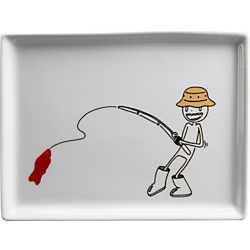 oliver candy fishing appetizer plate