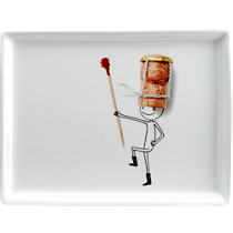 oliver champagne cork appetizer plate