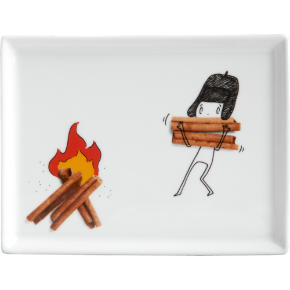 oliver cinnamon stick appetizer plate