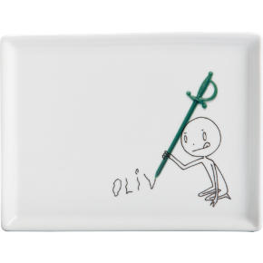 oliver cocktail sword appetizer plate