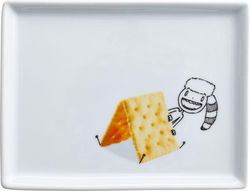 oliver cracker appetizer plate