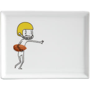 oliver football appetizer plate