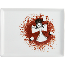 oliver hot cocoa snow angel appetizer plate