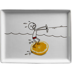 oliver lemon water skis appetizer plate