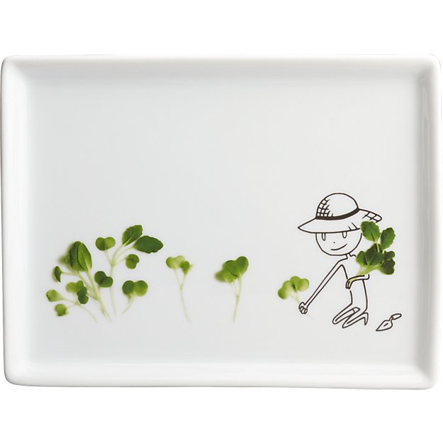 oliver microgreens appetizer plate