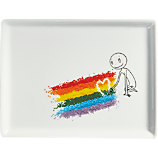 oliver rainbow spinkles appetizer plate