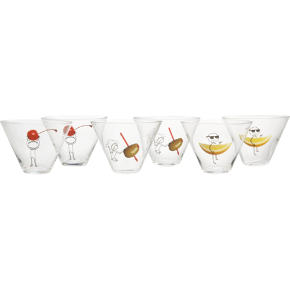 6-piece oliver martini gift set