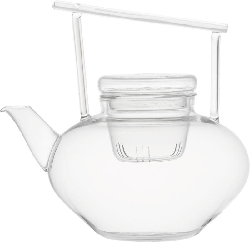 om beaker glass teapot