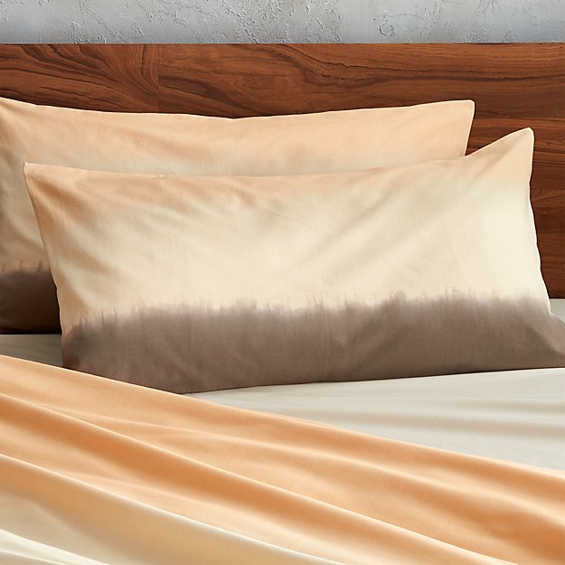 set of two ombre king shams