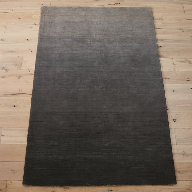 ombre grey rug