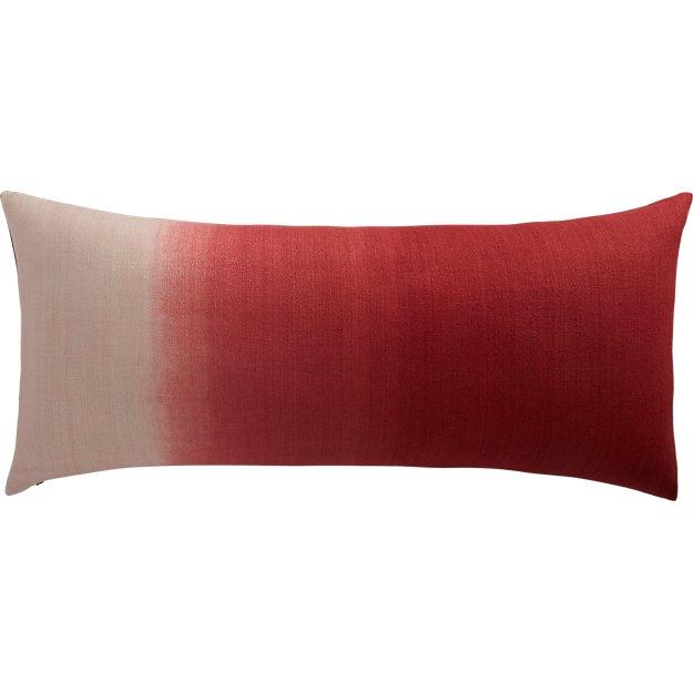 "ombre marsala 36""x16"" pillow"