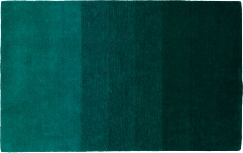 Ombre teal rug 539x839 cb2 for Bathroom carpet top view