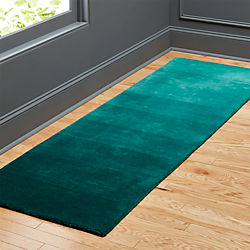 ombre teal runner