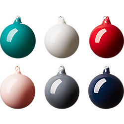 opaque ornaments set of six
