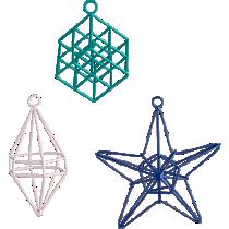open wire geometric ornaments