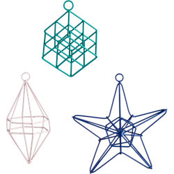 open wire geometric ornaments