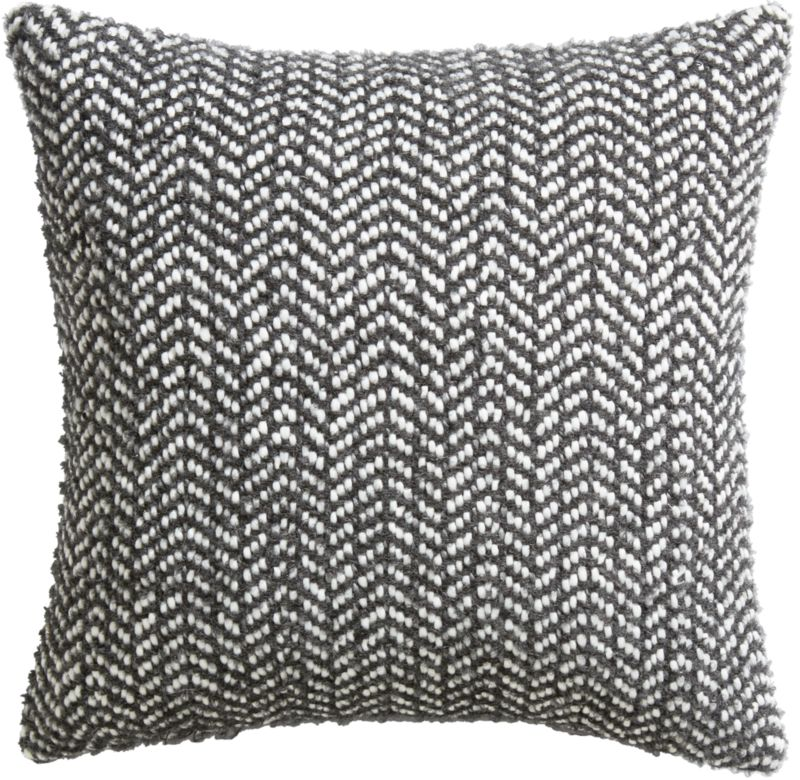 """optical chevron 18"""" pillow with feather-down insert"""