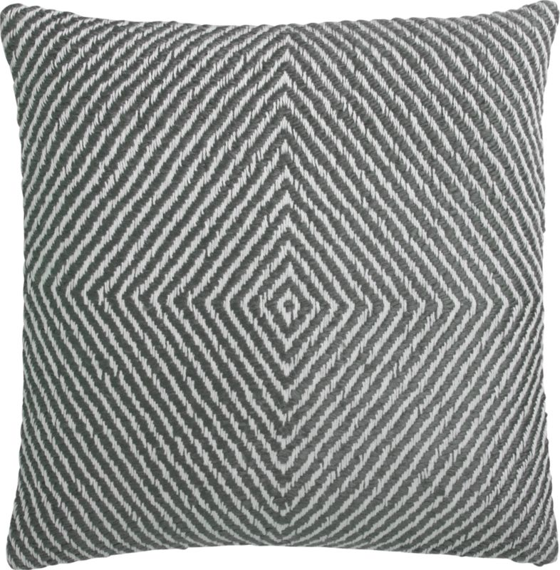 """optical 18"""" pillow with feather-down insert"""