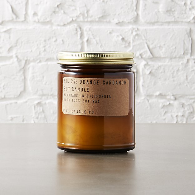 orange and cardamom soy candle